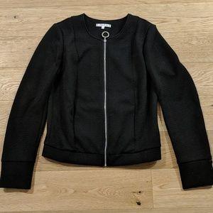 Willow & Clay Black Jacket Silver Zipper XS